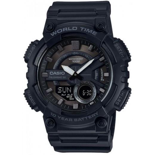 Casio aeq-110w-1bvdf Analog-Digital Combination Youth Watch