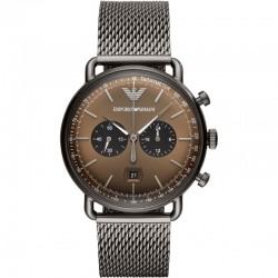 Armani Aviator Chronograph Quartz Brown Dial Men's Watch AR11141