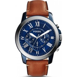 Fossil Grant Watch for Men - Analog Leather Band - FS5151