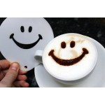 2 pcs stainless steel Fancy coffee printing model thickening Coffee Latte Cappuccino Barista Art Stencils / Cake coffee foam injection Templates